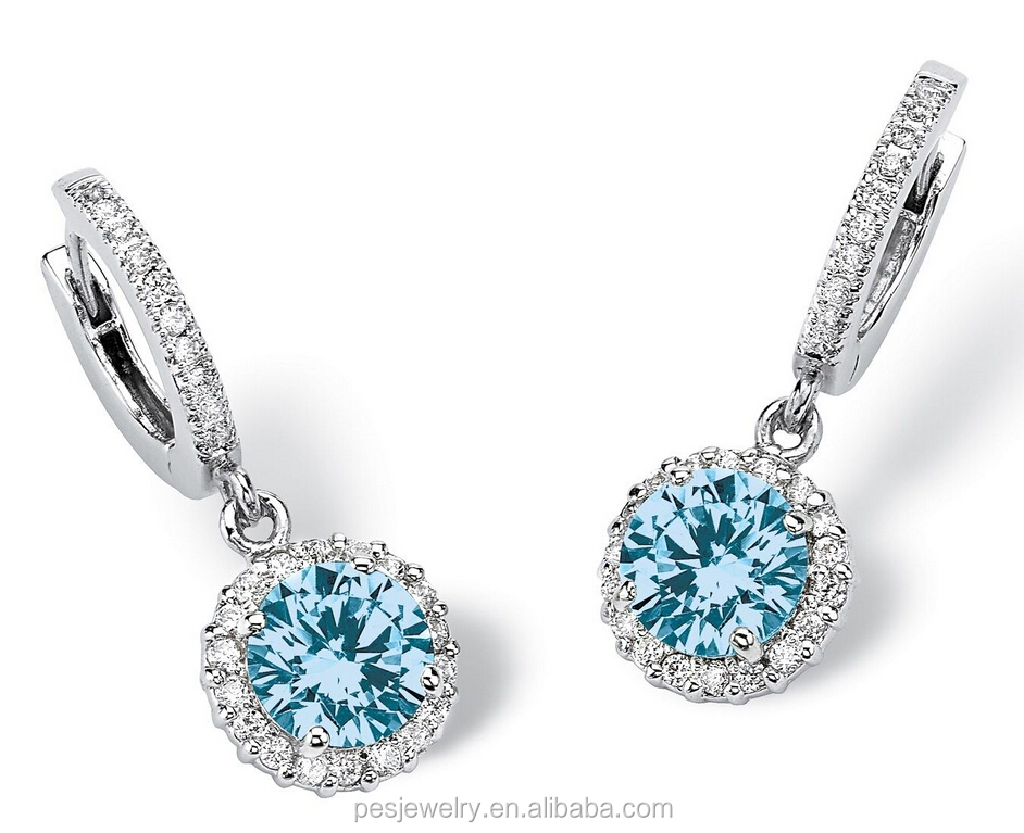 new styles selling white gold plated cubic