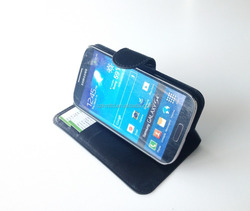 Hot Selling Pu Leather Mobile Phone Stand Flip Case for Samsung Galaxy S4