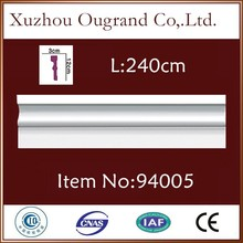pu material floor skirting board cover moulding