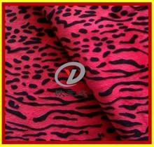 Polyester Animal skin print velboa textile fabric/ leopard print sofa cover textile