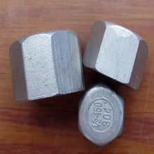 Stainless steel threaded end caps in round shape