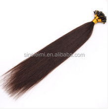 0.5g I Tip Pre Bonded Keratin hair extension 100% Brazilan Remy Human Real Hair Extensions can be dyed