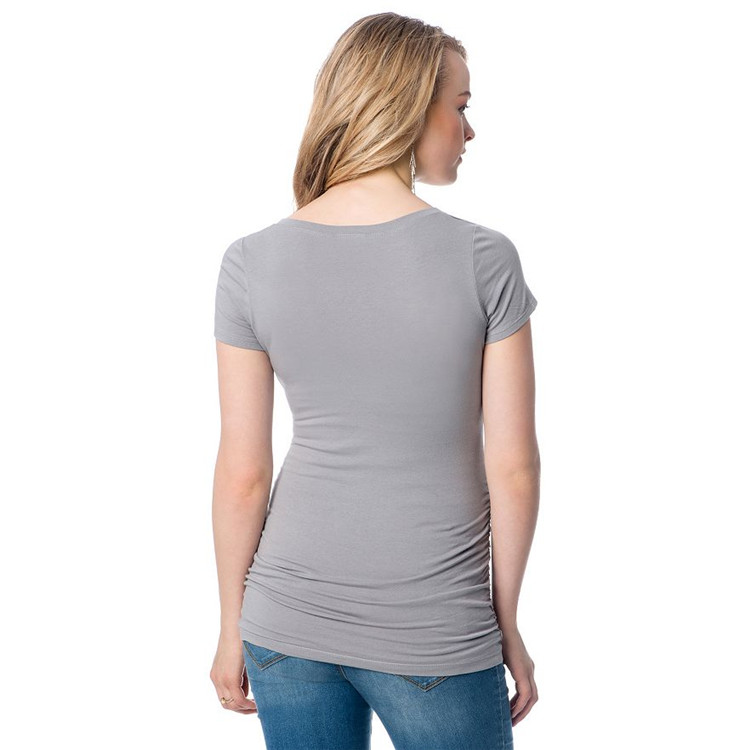 Bulk Sale Pregnant Plain V Neck Short Sleeve T Shirt