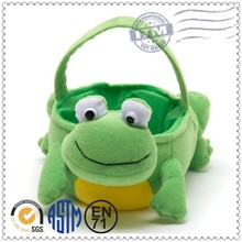 Popular style new products plush basket with soft toy
