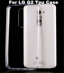 Ultra Thin Transparent Case Flexible Soft Gel Clear TPU Back Cover For LG G2 Mobile Phone Protective Shell