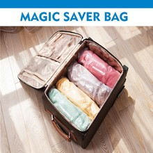 Hand-rolling travel space saver storage bags