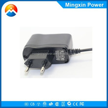 CE FCC 5V 1A european plug universal Mobile Phone power supply adapter for htc