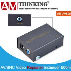 BNC/RCA/AV Vedio extender repeater amplifier via coaxial cable 500m