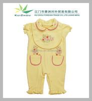 100% cotton Cute Embroidery Short sleeve baby wear set Baby wear