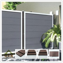 1800*1800mm with 253*20 board European outdoor basic wood plastic composite fence fence