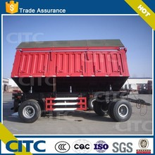 CITC 2 axle 8 wheels towed trailer tipper side dumping type for sale