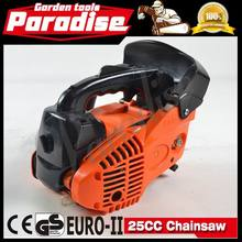 2014 nova venda ferramentas de jardim 2-stroke 25cc Mini serra pequeno Gas Chainsaw