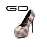 GD Fashion high heels measures with waterproof Taiwan fine with serpentine for women's shoes
