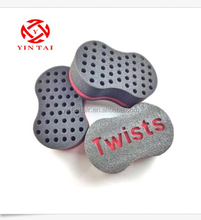 2015 new design magic hair twist sponge for black man sponge brush provided customized logo