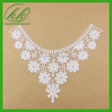 Vintage Ecru Color Cotton Crochet Collar Crochet Lace Neckline Embellishment Vintage Lace for Vintage Wedding KK-1990