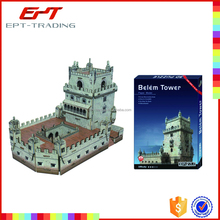 Famous building! Torre de Belem 3d puzzle toys for kids