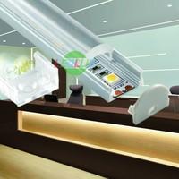 2 Meter Mini U-Line shaped Recessed Aluminium Profile with Transparent Diffuser for Flexible LED Strip