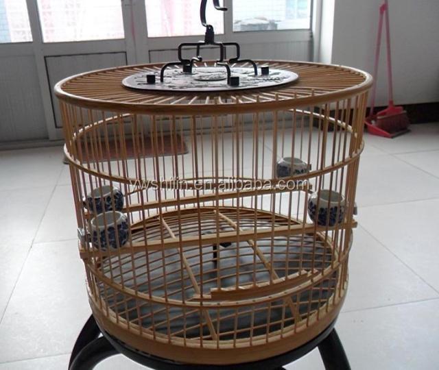 Bambou cage à oiseaux / bois de bambou cage à oiseaux / bambou cages d'oiseaux à vendre ...
