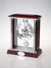 Antique Solid Wooden Table Clock Pendulum Digital Desktop Clock For Home Decor