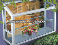 PVC garden windows lowes with clear glass