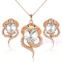 jewelry wholesale china snake design dubai gold plated zircon stone jewelry set