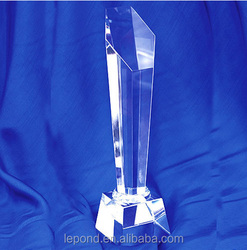 Crystal Glass Trophy for Gold /badminton/pingpong Champion