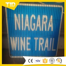 Niagara Wine Trail New York - Blue & White Reflective Road Sign