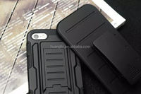 Belt Clip shockproof silicone+pc armour back housing cover cell phone for iphone 6&6plus Dual Layers case