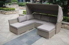 fashion furniture rattan outdoor/garden sofa with canopy