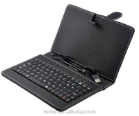 7 inch Multicolor Keyboard Leather Case With Wireled Keyboard Smart Cover For Ipad Sumsang Tablet PC Cases