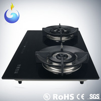 Sensitive touch 2 burner gas stove with timer function