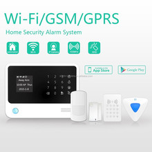 IP camera monitor in host APP wireless burglar alarm system & GSM WIFI alarm system Independent zones for finance office