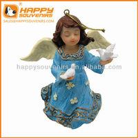 Custom decor hanging Christmas enviromental angel resin statue