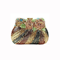 Luxury top beauty fashion satin evening bags wholesaler from China