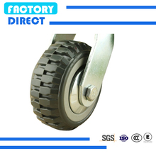 pu foam rubber solid tyre wheel