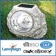 XLTD-505 Hot product Cixi solar light manufacturer led stone light/polyresin rock solar garden light/resin solar light