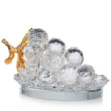 ca0001 oem fábrica de frutas de vidro cristal uva cluster