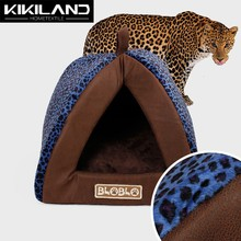 Top Selling High Quality LEOPARD print small dog Bed