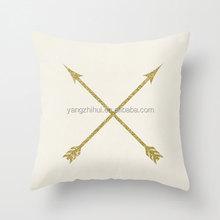 Gold Arrows love cushion cover, foil gold cushion cover, metallic gold cushion cover