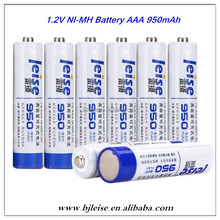 950mAh AAA rechargeable 1.2V NI-MH battery for Camera ,Microphone