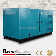 Low noise level power plant 550kva Soundproof electric generator 440kw silent power generator price with non-return fuel valve