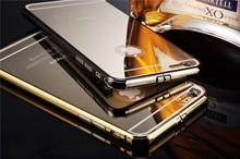 Wholesale Bumper Aluminium Mirror Case for iPhone 6 Mirror Case