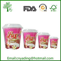 16OZ Paper ice cream cup food container in hot selling