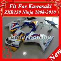 Fairing kit for KAWASAKI Ninja 250R EX 250 2008 2009 2010 2011 EX250 08 09 10 11 white blue