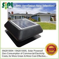 Air refreshing fan type solar exhaust ventilation fan with dc motor