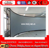"4:3 150"" Large Fixed Frame PVC Rear Projector Screen 3D Silver Screen"