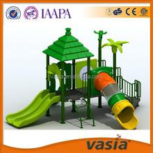 Golden factory children slide set outdoor playground equipment with one-stop station