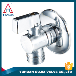 brass angle ball valve chrome plated with CE ceertification