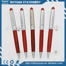 china 2016 new design hot sale wooden, rosewood ball pen