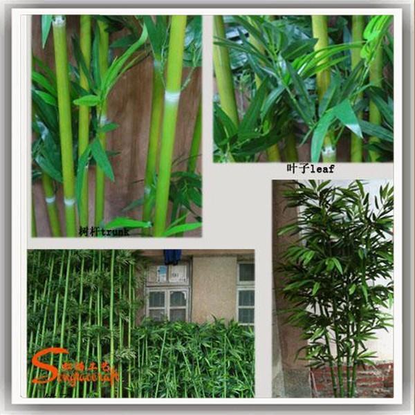 Usine pas cher prix artificielle bambou arbre personnalis for Faux bambou